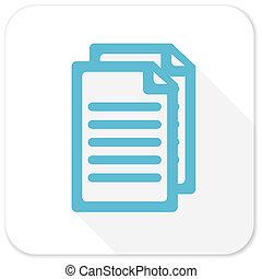 document blue flat icon