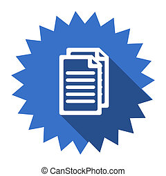 document blue flat icon