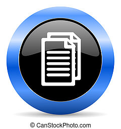 document blue glossy icon