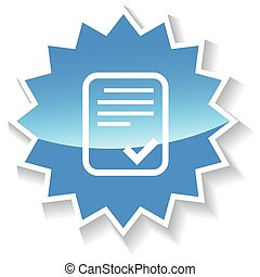Document blue icon