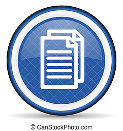 document blue icon pages sign