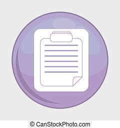 document button icon. Social media design. vector graphic
