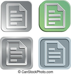 Document buttons - Vector document buttons