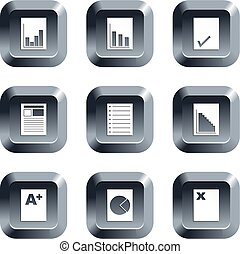 document buttons - collection of document icons set on...
