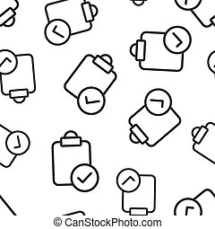 Document checkbox icon in flat style. Test vector illustration on white isolated background. Contract seamless pattern business concept.