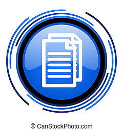 document circle blue glossy icon