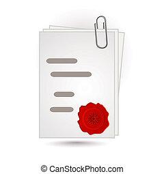 document, cire