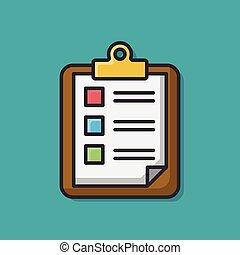 document color line icon