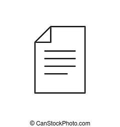 document, contour, icône