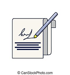 document contract signature icon