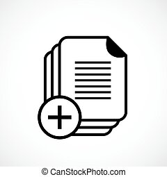 Document copy vector icon