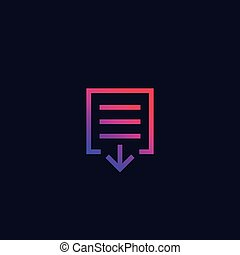 document download icon, vector