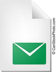 document, enveloppe, pictogram