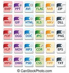 document, fichier, extensions