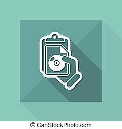 document, fichier, icône