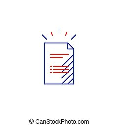 Document file list, application form icon