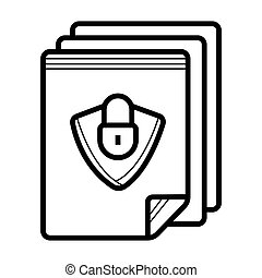 Document file lock locked page icon