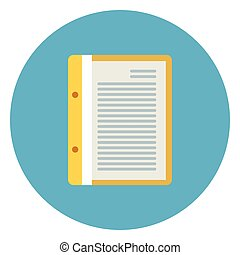 Document File Paper Page Icon On Blue Round Background