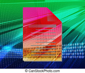 Document file types background