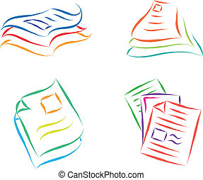 document files - paper documents sketch abstract vector