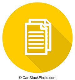 document flat design yellow web icon