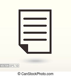 Document flat Icon. Sign File