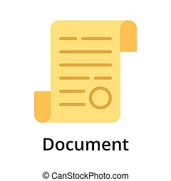 Document flat vector illustration. Single object. Icon for ...