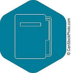 Document folder icon, outline style