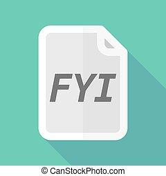 document, fyi, ombre, long, texte