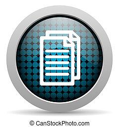 document glossy icon