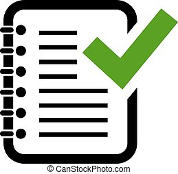 Document grammar control icon on white background