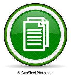 document green icon pages sign