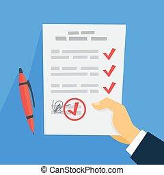 document, hand, informatietechnologie, vasthouden, meldingsbord