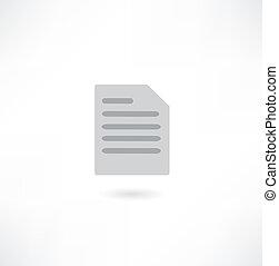 document, icône