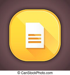 document, icône, vecteur