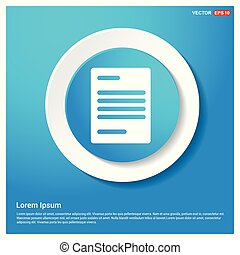 Document Icon Abstract Blue Web Sticker Button