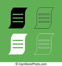 Document icon Black and white color set