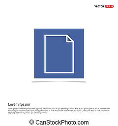 Document Icon - Blue photo Frame