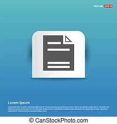Document Icon - Blue Sticker button