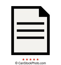 Document icon . Different color .