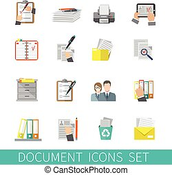 Document Icon Flat - Document paper folder documentation...