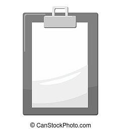Document icon, gray monochrome style