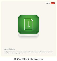 Document Icon Green Web Button