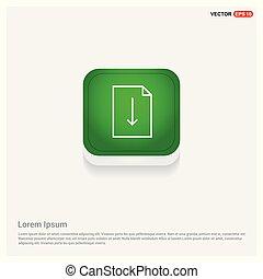 Document Icon Green Web Button