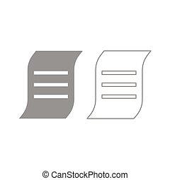 Document icon. Grey set .