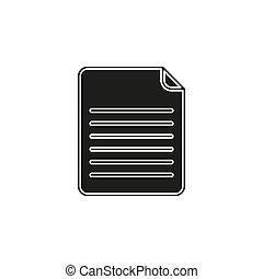 Document icon. Logo element illustration.