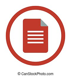 Document Icon on white background.