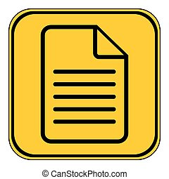 Document icon on white.