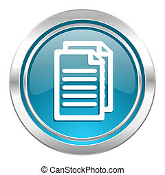 document icon, pages sign
