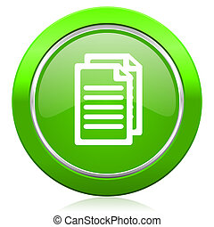 document icon pages sign